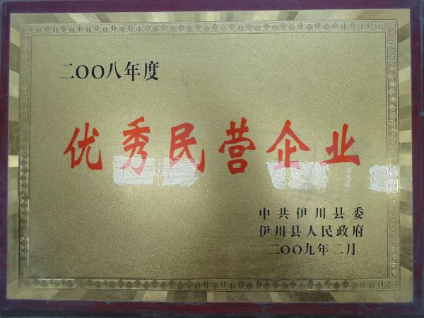 2008年度优秀民营企业